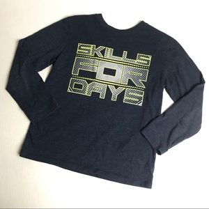 Children's Place Graphic Long Sleeve Tee sz M 7/8